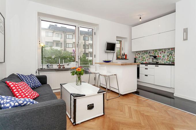 Кухня студия дизайн 26 квадратов