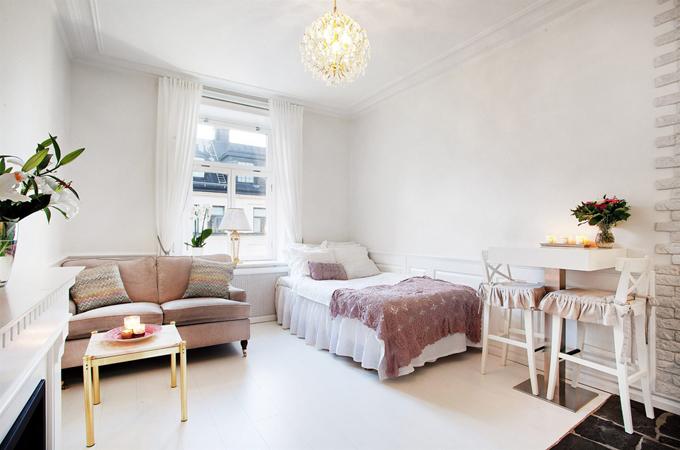 Дизайн студии небольшой квартиры