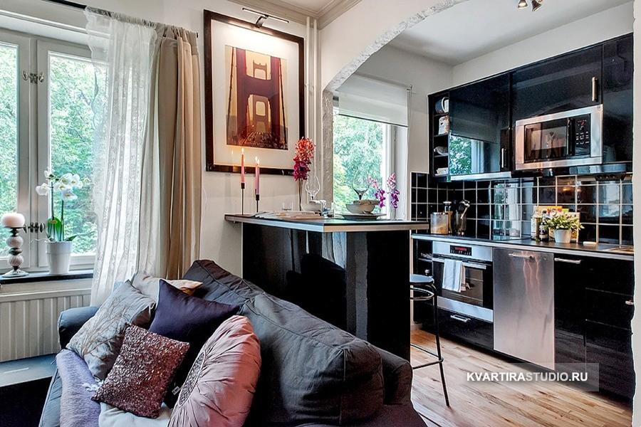 Дизайн квартиры-студии 26 кв.м фото
