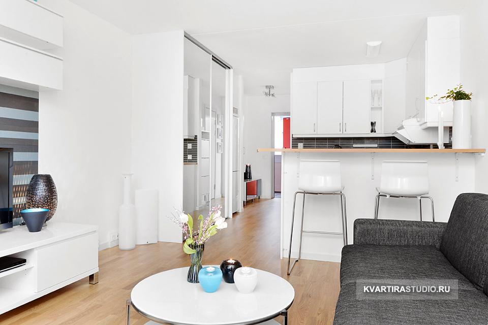 Дизайн длинной квартиры студии