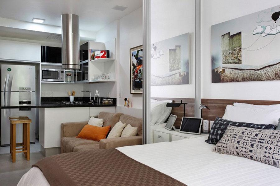 Дизайн узких квартир студий