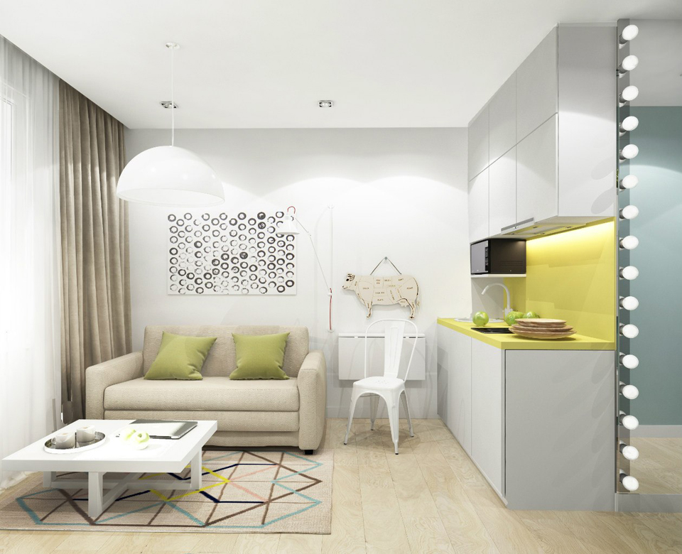 Квартиры студии 17 кв м дизайн 141