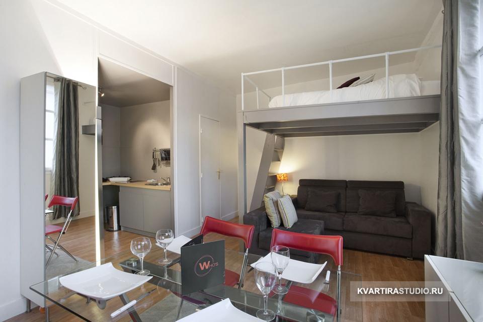 """Дизайн однокомнатной квартиры 25 кв.м фото """" улетный дизайн."""