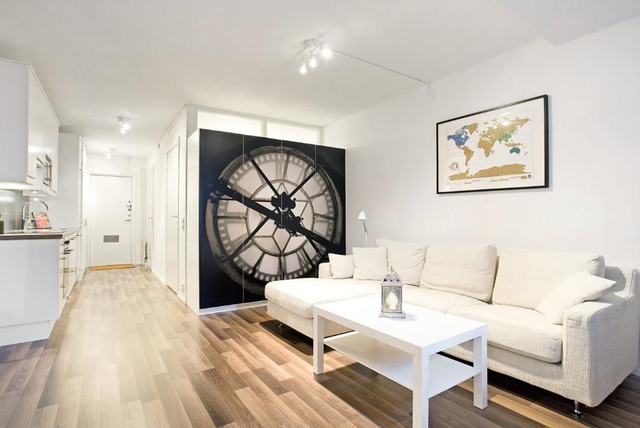 Дизайн комната с альковом
