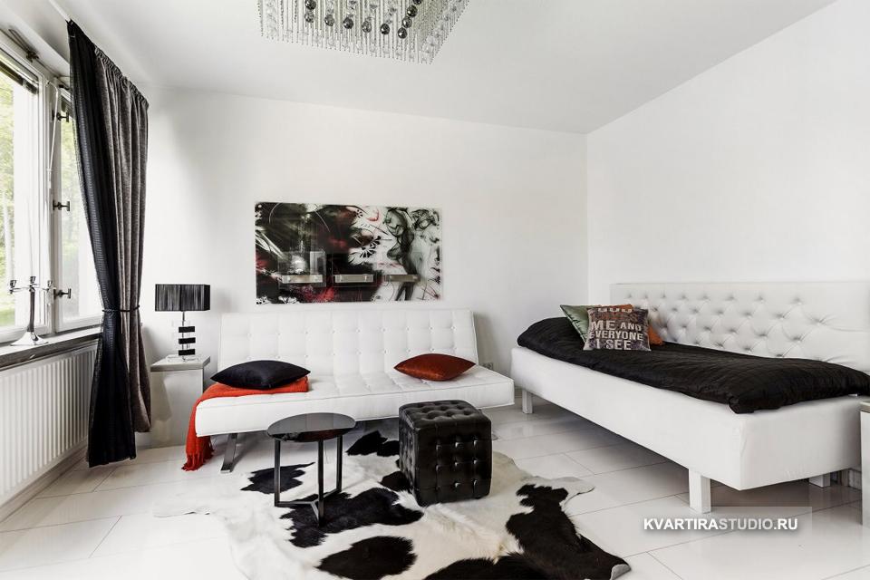 Черно белые интерьеры квартир