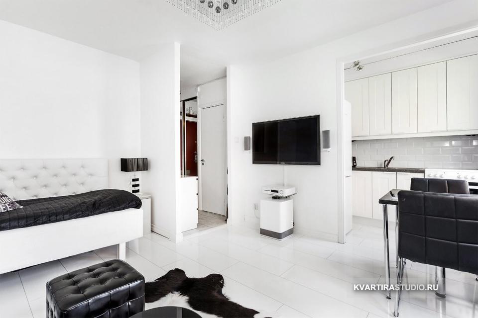 Черно белый интерьер квартиры