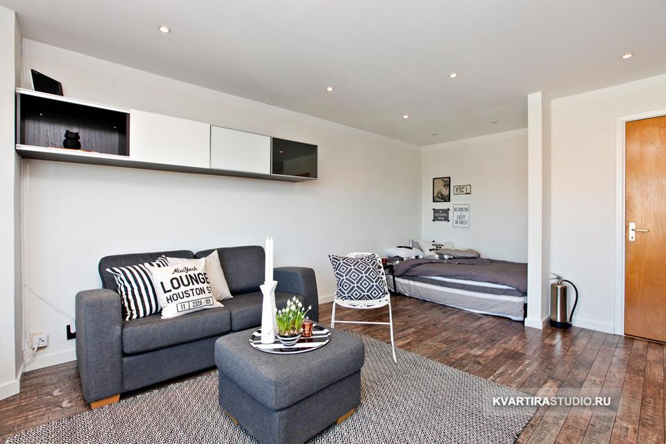 Дизайн однокомнатной квартиры-студии 40 кв.м