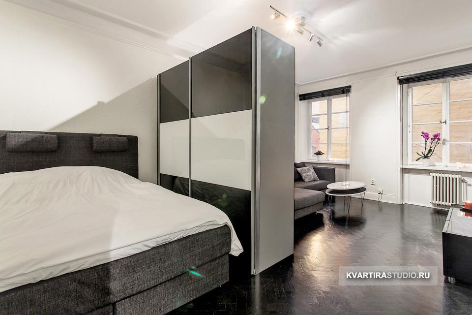как шкафом разделить комнату на две фото